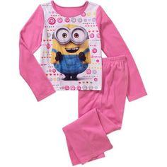 Minions Girls' License 2 Piece Pajama Sleep Set