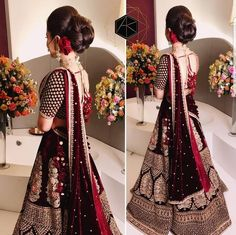 Haute spot for Indian Outfits. Wedding Lehnga, Asian Wedding Dress, Indian Bridal Lehenga, Indian Bridal Outfits, Indian Bridal Wear, Pakistani Bridal Dresses, Wedding Dresses, Indian Dresses, Wedding Hair