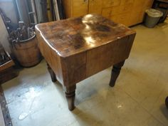 Saw it on Craigslist: 'Very Old, Very Heavy' Butcher Block Table Butcher block tables, Block ...