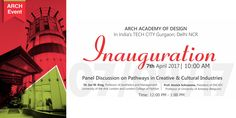 Arch Academy of Design proudly invites you all to the inauguration of its branch in Gurgaon.  #ArchAcademyOfDesignGurgaon, #ArchAcademyOfDesignJaipur, #GlocalArch, #ArchEvent, #EmpowerCocreateEvolve