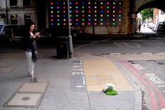 Pothole gardener.  Making the streets of London more beautiful.  He is amazing!