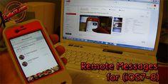 Remote Messages adından da anlaşılacağı üzere Web tarayıcınız üzerinden mesajlaşmaya yarayan güzel bir Tweak dır. http://www.cydiatr.com/remote-messages-for-ios7-8.html