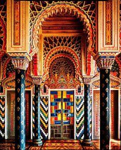 Castello di Sammez zano in Reggello, Tuscany, Italy...A Moroccan style residence