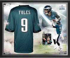 c0fbb7a0e Nick Foles Eagles SB LII Champs Framed Signed Green NFL Pro-Line Jersey  Collage