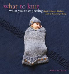 What to Knit When You're Expecting: Simple Mittens, Blankets, Hats & Sweaters for Baby by Nikki Van De Car, http://www.amazon.com/dp/076244665X/ref=cm_sw_r_pi_dp_ujwDqb1Z76TVD