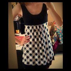 Dresses & Skirts - Checkered dress- black and white