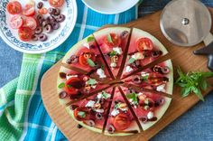 Savory… Watermelon Pizza!
