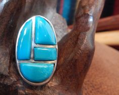 Sterling Turquoise  ring size 7  Native American jewelry quarter horse turquoise sleeping beauty  estate jewelry vintage turquoise by CherokeeKachinaCasey on Etsy