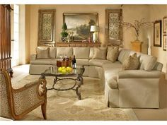 Century Furniture Living Room Made to Measure Sectional 1000 Series Sectional - Hickory Furniture Mart - Hickory, NC