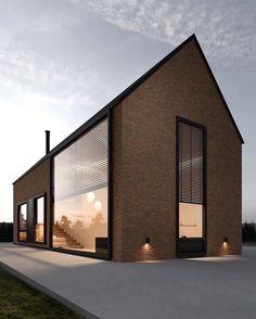 Architecture Durable, Architecture Design, Residential Architecture, Contemporary Architecture, Modern Barn House, Modern House Design, Loft Design, Design Art, Exterior Design