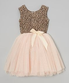 Pink & Tan Miss Pussycat Tutu Dress by Designer Kidz on #zulilyUK today!