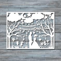Wedding Paper Cut Template Paper cut Templates PDF by Zavyanne8