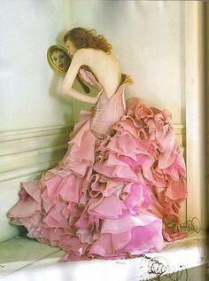 #ruffles  Pink Dress   #2dayslook  #fashion #nice #new #Pink #Dress  www.2dayslook.nl