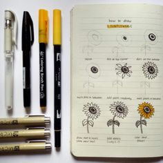 Simple sunflower tutorial!