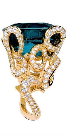 Dior Tourmaline and Diamond Ring. #FashionJewelry #AssoulinePublishing