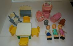 Vintage little tikes doll house pieces #LittleTikes