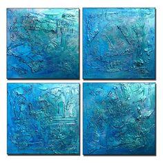 Énorme peinture abstraite Art métallique par newwaveartgallery