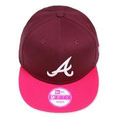 New Era Atlanta Braves 9Fifty Woman Snapback Unisex NY Ness Top YOLO