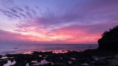 As I photographed this sunset a local Japanese man played the shamisen on the rocks behind me. [OC][20481152] #reddit