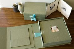 Proof photo box with CD sleeve by Cypress Fine Handmade Albums and Boxes