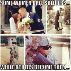 I always see the whole army wife/girlfriend but what about the wives and girlfri. I always see the whole army wife/girlfriend but what about the wives and girlfriends that are the ones wearing the uniform? Source by bryhammes. Military Quotes, Military Girl, Military Humor, Military Female, Army Quotes, Military Couples, Female Soldier, Female Marines, Navy Life