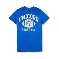 Pride Men's Unicorn Football T-Shirt Blue , Size: , Royal ($13) ❤ liked on Polyvore featuring men's fashion, men's clothing, men's shirts, men's t-shirts, royal, target mens clothing, mens clothing and mens apparel