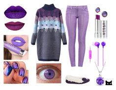 """""""Purple isn't just for old ladies! #Purple #polyvore"""" by constance-mcnamara-romanowski on Polyvore featuring Isotoner, Stila, Haze, Bling Jewelry, Boutique Moschino, Sony, Urban Outfitters and purple"""