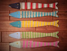 Wooden Fish Nautical Fish Decor Reclaimed by CoastalCoveCreations