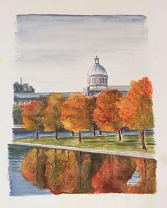 Marché Bonsecours in autumn splendour. En aquarelle 🎨