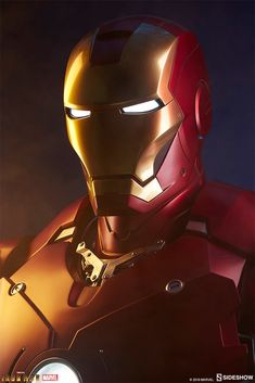Marvel Iron Man Mark III Life-Size Bust by Sideshow Collectibles Marvel Heroes, Marvel Characters, Marvel Avengers, Marvel Comics, Iron Man Art, Iron Man Wallpaper, Iron Man Avengers, Ironman, Marvel Comic Universe