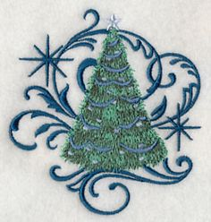 Blue Christmas Tree and Echo