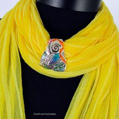 Color Shell Slide Scarf Jewelry