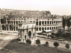 Arco di Costantino e Colosseo-anni-30-