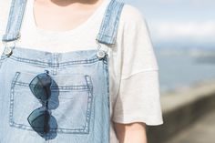 Pauline Fashion Blog wearing our Level 99 Petite Lily Dungarees.