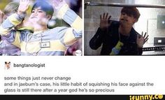 Finally found a meme with both of these pictures in it. Precious leader. #Got7