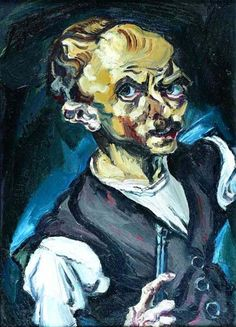 Ludwig MEIDNER,Selbstbildnis, 1915 Öl auf Leinwand. 74,5x53,5 cm