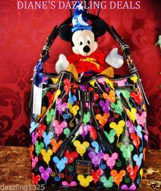 Dooney and Bourke NEW Disney Mickey Balloons Drawstring Bag / Purse ADORABLE!!!