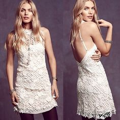 $250 Free People Snowdrop lace Trapeze SMALL NWT ladies! 100% Authentic Still $250 on the FP Website No trades Price is firm serious buyers only Free People Dresses Mini