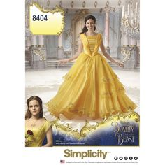 Disney Beauty and the Beast Live Action gown. Like Belle, turn your beast back into a handsome prince with this gorgeous gown.