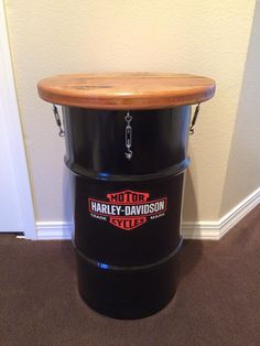 Harley Barrel Table