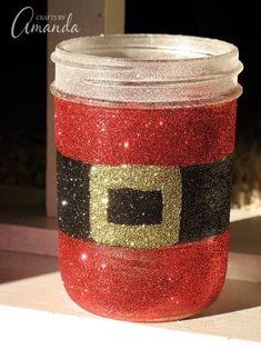 Santa's Belly Jar My original intention was to create Christmas luminary jars with this design. However, I've decided to use these to hold candy canes instead. :) Turns out that jars covered in glitter just don't light up as nice as I had hoped. But they do light up as you can see in theRead More »