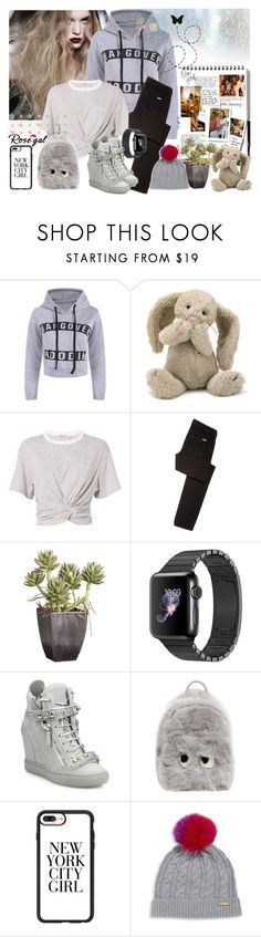 """Enjoy the little things"" by leona9 ❤ liked on Polyvore featuring Garance Doré, Jellycat, T By Alexander Wang, Hudson Jeans, Crate and Barrel, Giuseppe Zanotti, Anya Hindmarch, Casetify and Burberry"