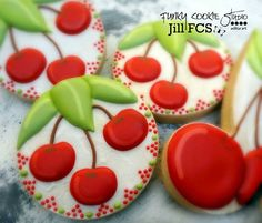 Cherry decorated cookies <3