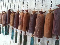 Earth and Wind Garden Bell bells clay by EarthWindStoneware