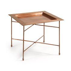 Table Oqui extensible ovale 120-200 cm, naturel et marron   Tables