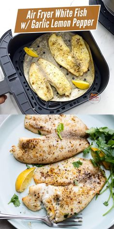 Air Fryer Recipes Low Carb, Air Fryer Dinner Recipes, Low Carb Recipes, Healthy Recipes, Healthy White Fish Recipes, Halibut Recipes, Fried Fish Recipes, Air Fry Fish Recipe, Air Fried Fish