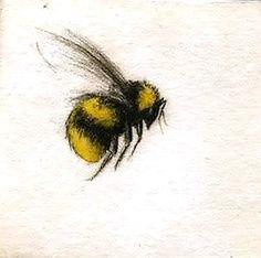 Cute Flying Bumble Bee Tattoo Design
