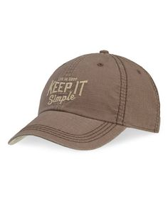 Love this Oak Brown 'Keep It Simple' Baseball Cap - Men by Life is good® on #zulily! #zulilyfinds