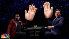 Jimmy and Kevin Hart compete in a high-stakes game of blackjack where the loser of each round gets smacked in the face with a giant rubber hand. Subscribe NO...