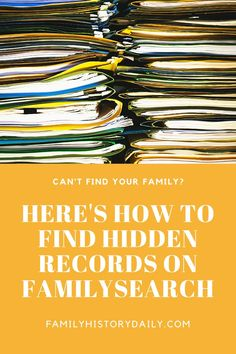 It's an often overlooked fact that a vast amount of FamilySearch's collections can not be found via the search on their site. Millions of free family history records are waiting to be discovered but have not yet been indexed and are, therefore, somewhat hard to find.